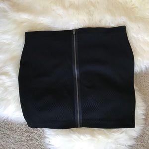Zippered Black Skirt